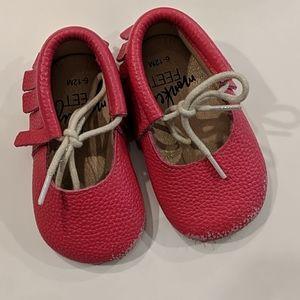 Monkey Feet Pink Baby Moccasins